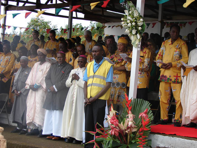Bishop Bushu of Buea<br /> and Bishop Lisinge alongside Emam of Buea